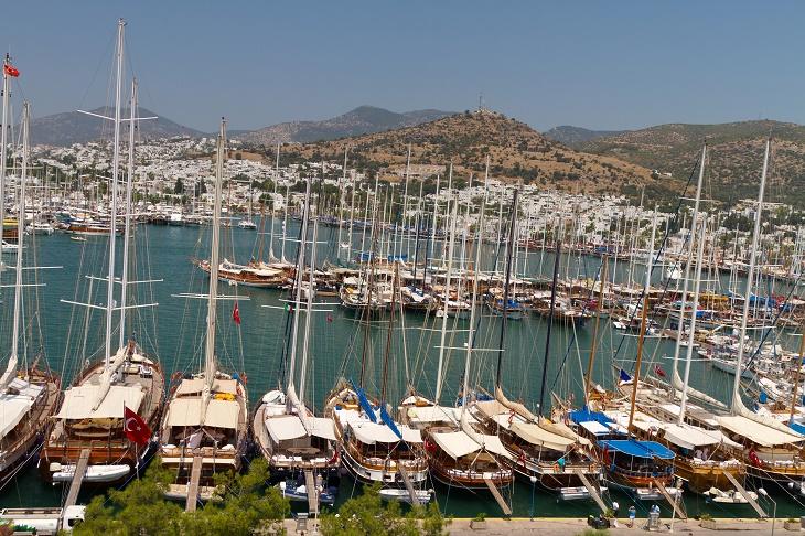 Bodrum Marina from Mugla, Turkey