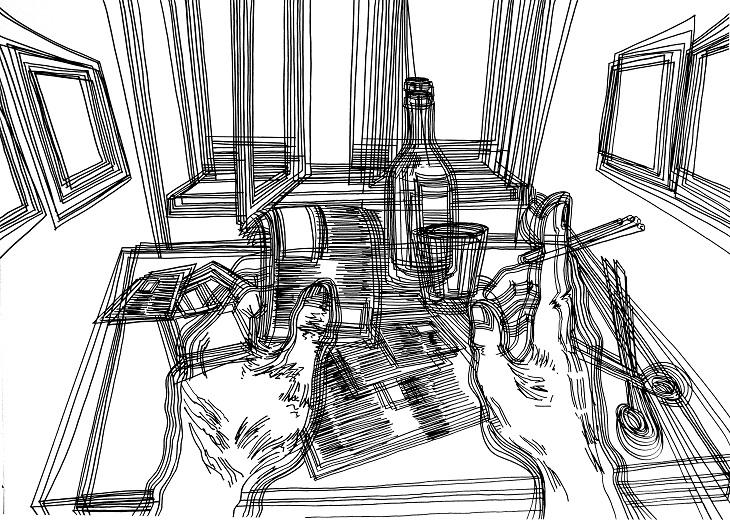 Kayıp Oda Çizimleri No: 26, Desen, 100x70 cm, 2010