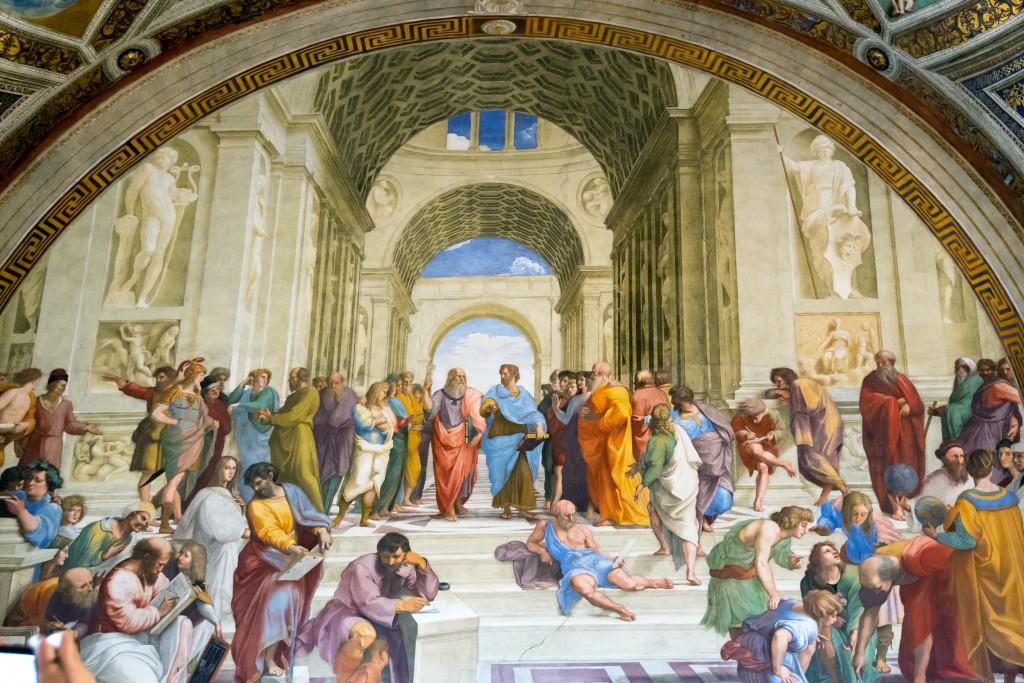 Vatikan Müzesi / Atina Okulu, Raphael (Museo Vaticano)